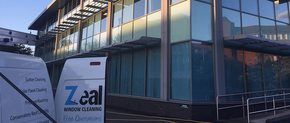 commercial window cleaner colchester